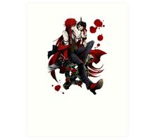 grell and the sebastian doll Art Print