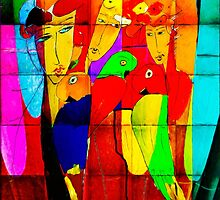 Ladies and Parrots by zzsuzsa