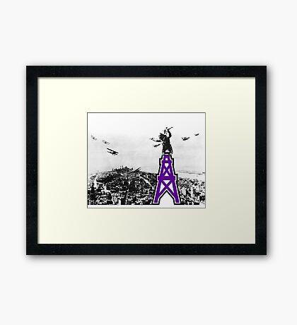 Oilers Kong Framed Print