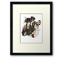 spooky black butler design Framed Print