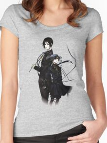 sebastian and ciel back to back  Women's Fitted Scoop T-Shirt