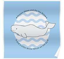 Baby Beluga Whale Poster