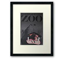 Hippo Zoo Poster Framed Print