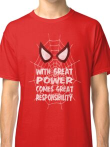 Spiderman Quote Classic T-Shirt
