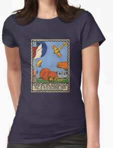 Vintage Travel Poster - 1920 French Airshow Womens Fitted T-Shirt