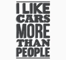 I like cars more than people One Piece - Short Sleeve