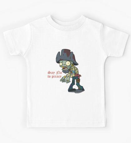 Plants vs Zombies  Say No To Piracy Kids Tee