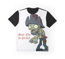 Plants vs Zombies  Say No To Piracy Graphic T-Shirt