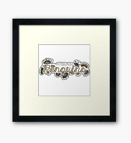 Pittsburgh Penguins - Girly Framed Print
