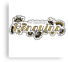 Pittsburgh Penguins - Girly Canvas Print