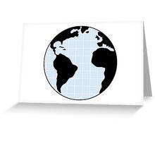 earth grid Greeting Card