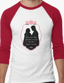 """Captain Swan """"They Will Always Find You"""" Silhouette Design  Men's Baseball ¾ T-Shirt"""