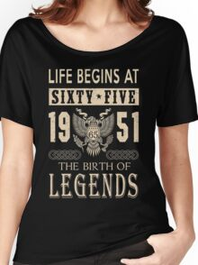 LIFE BEGINS AT 65 Women's Relaxed Fit T-Shirt