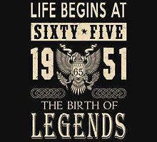 LIFE BEGINS AT 65 T-Shirt