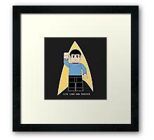 Lego Spock Framed Print