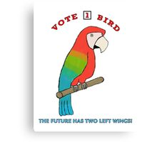 Vote For Bird #2: Two Left Wings Canvas Print