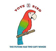 Vote For Bird #2: Two Left Wings Photographic Print