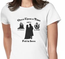 "Captain Swan ""A Princess and a Pirate"" Silhouette Design  Womens Fitted T-Shirt"