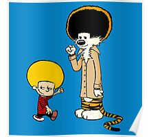 Calvin & Hobbes : Afro Style Poster
