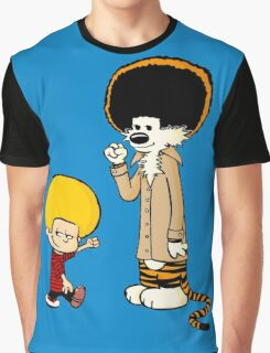 Calvin & Hobbes : Afro Style Graphic T-Shirt