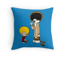 Calvin & Hobbes : Afro Style Throw Pillow