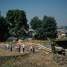Workmen excavating a Dig on Palatine Hill Rome Italy 19840719 0012m by Fred Mitchell