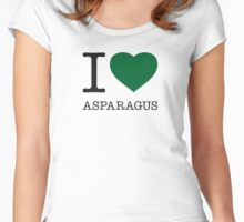 I ♥ ASPARAGUS Women's Fitted Scoop T-Shirt