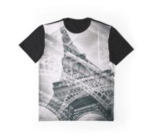 Eiffel Tower Double Exposure Graphic T-Shirt