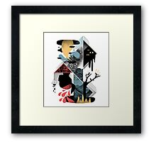 Shapes and Nightmares Framed Print
