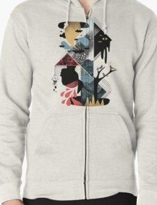Shapes and Nightmares Zipped Hoodie