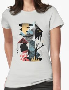 Shapes and Nightmares Womens Fitted T-Shirt