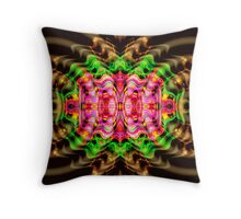 Vivid Colour Warp .... View larger for full effect Throw Pillow