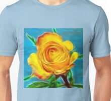 A yellow Rose . Unisex T-Shirt