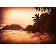 Sunset Sandy Beach Photographic Print