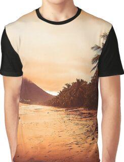 Sunset Sandy Beach Graphic T-Shirt