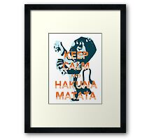 The lion king hakuna matata Framed Print