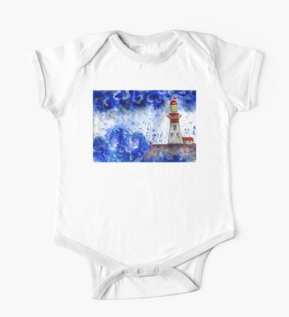 Lighthouse in the Storm 4 One Piece - Short Sleeve