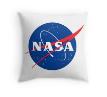 NASA logo Throw Pillow