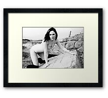 Victoria, Knee Highs and Swimsuit Framed Print