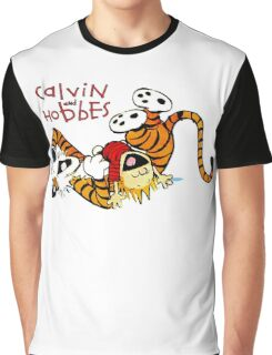 Calvin & Hobbes : Enjoy Your Time Graphic T-Shirt