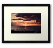 Moon Rising Queensland Framed Print