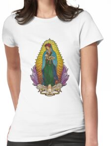 Our Lady Mother Nature Womens Fitted T-Shirt