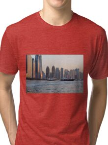 Photography of tall buildings, skyscrapers from Dubai. United Arab Emirates. Tri-blend T-Shirt