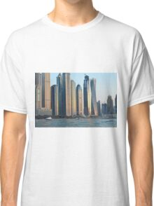 Photography of tall buildings, skyscrapers from Dubai. United Arab Emirates. Classic T-Shirt