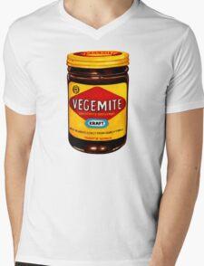 Vegemite Pattern Mens V-Neck T-Shirt