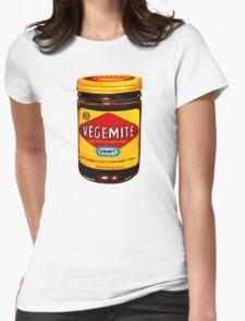Vegemite Pattern Womens Fitted T-Shirt