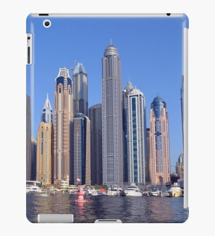 Photography of tall buildings, skyscrapers from Dubai. United Arab Emirates. iPad Case/Skin