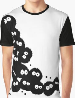 Soot Sprites coming out from Corner Graphic T-Shirt