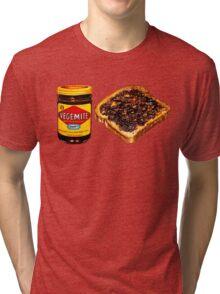 Vegemite and Toast Pattern Tri-blend T-Shirt