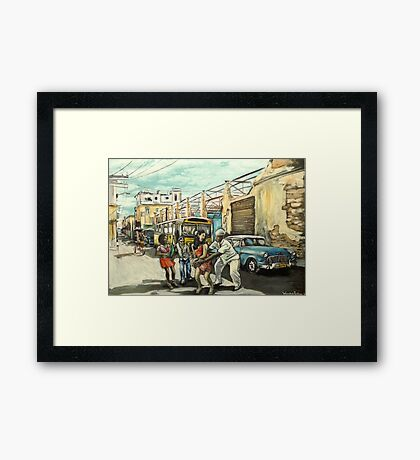 Cuban dancers Framed Print